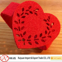 Alibaba hot sale !!! Lovely Heart napkin ring for Wedding