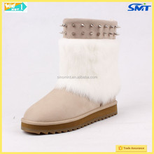 winter white boots and colorful snow boots