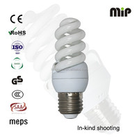 high quality mini full spiral 13W T3 E27 6500K energy saving lamp factory