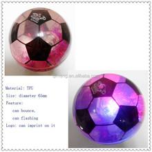 65mm TPU flashing soccer water bounce ball