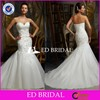 Sexy Sweetheart Mermaid Lace Appliqued Organza Alibaba Wedding Dress 2015