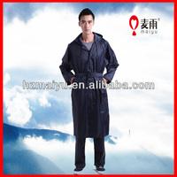 100% waterproof long raincoat for men