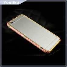 luxury vogue moblie phone aluminum metal case for iphone 5/ 6 made in china