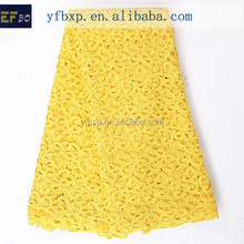 """2016 cord embroidery designs high quality swiss lace/ 51-52"""" polyester material 2015 lace fabric/ yellow cord lace for girl dres"""