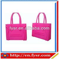 new design women handbag jelly candy color silicone bag