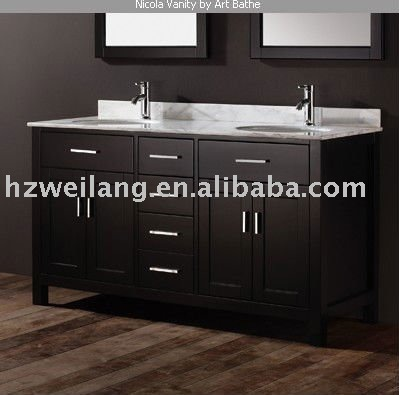North America Hot Sell Modern Marble Top Wooden Bathroom Vanity Buy Hot Sell Wooden Bathroom