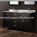 hot vendre en amérique du nord moderne en bois salle de bains vanité dessus de marbre