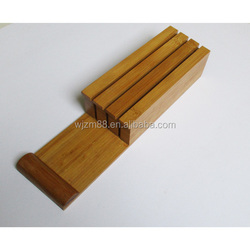 new products bamboo drawer knife block, bamboo knife drawer organizer & knife holder set wholesale