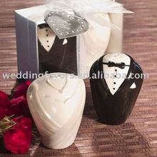 Wedding Souvenir Bride and Groom Salt and Pepper Shakers