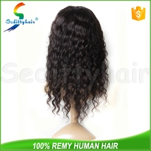 Wholesale high quality Deep Wave kinky twist human hair full lace wig