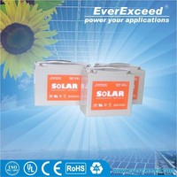 EverExceed solar Gel battery with ISO / CE / UL Approval