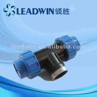 pp compression fitting, plastic tee