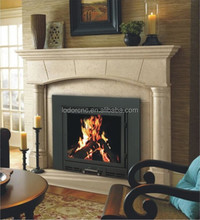 Traditional style Wood-burning cast iron real fire fireplace