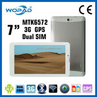 MTK 6572 tablet pc with gps tv radio 7 inch dual core dual camera
