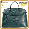 Qiwang authentic Genuine Leather,leather Material and Tote Bag Style leather handbag wholesale MOQ4pcs QW8200