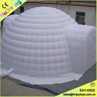 Outdoor durable inflatable white dome tent for sale