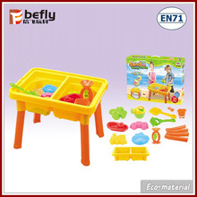 With plastic sand mold kids sand table for together play