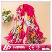 Hot selling 2015 Newest Design Multicolor Printed Chiffon shawl women scarf