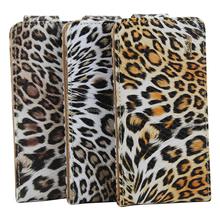 Fashion design flip leather Leopard case for samsung galaxy s4