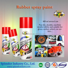 8 minutes fast drying Removable car rubber spray paint