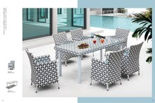 Palma Garden rattan classic dining room furniture sets 6 seater Synthetic Rattan Furniture
