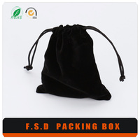 Cheap price wholesale black velvet jewelry pouches and bags