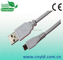 Fast charging 28awg/1p+24awg/2c micro usb charging cable