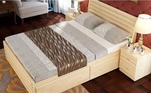 modern bedroom set pine wood bed side