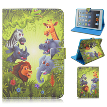 Animal Prints Flip Stand PU Leather Smart Cover Cases For Apple iPad 2/3/4