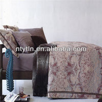 beautiful poly/cotton jacquard home bedding sheet sets