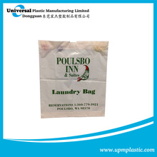 Reusable dry cleaning hotel drawstring laundry plastic bag in bulk