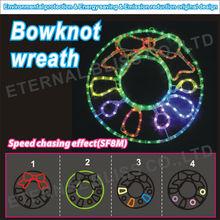 AC100V PSE home user wholesale bowknot wreath motif light