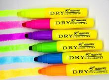 marcador seco multicolor pluma fluorescente resaltador lucene