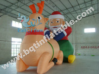 Commerial Oxford Inflatable Santa Claus, outdoor Christmas model inflatable