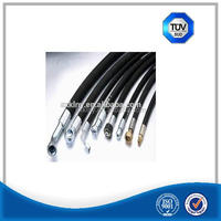 Heat resistant steel wire braid high pressure hose sae 100 r2
