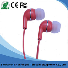 Plastic Noise Cancelling Silicone Cover Stereo In-ear Headphone