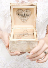 vintage wooden ring boxes for rustic wedding