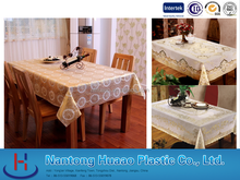gold stamp dinning table cover with different designs