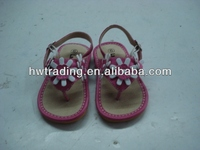 fancy baby squeaky sandal for girl