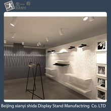 Presenting store relies on a wall frame / wrought iron wall shelf