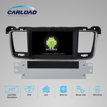 Car dvd gps 2 din peugeot 508 multimedia player with 3g wifi bluetooth ipod