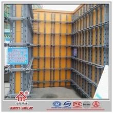 Sistema de moldeado de paredes en acero para moldar concreto para construcciones modernas