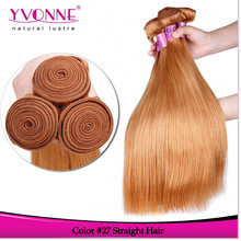 2015 New arrival straight blonde brazilian hair weft