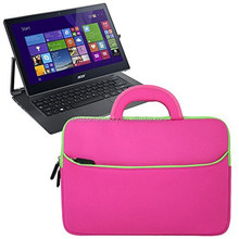 factory price soft neoprene 13.3inch neoprene laptop sleeve with carrying and pocktet