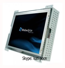 8.4'' wide operating temperature Industrial open frame monitor, VGA DVI Dual signal interface, USB touch interface