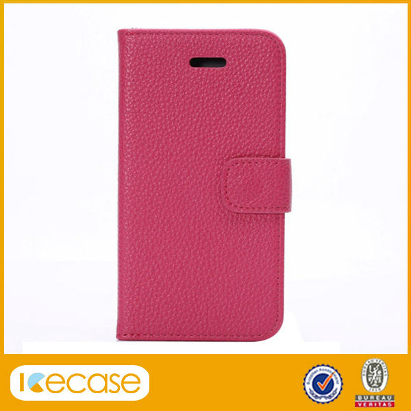 Lichee pattern PU leather cell phone case for iphone 6 6s case