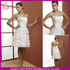 SD1191 layered organza short western wedding dresses short country wedding dresses