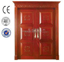 high quality solid wood used exterior door for sale/entrance door from Guangzhou