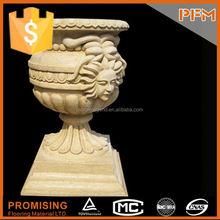 Exterior stone carved natural art wood box urna wood urn