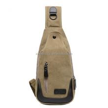 Tmall Best Selling Men's Vintage Chest Bag Sling Canvas Shoulder Bag